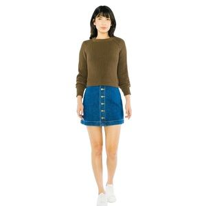 AMERICAN APPAREL front A-line mini skirt.